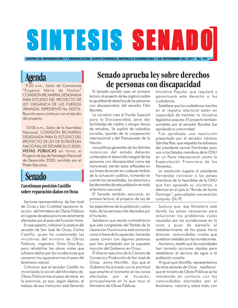 Pte/Gobierno - Senado de la República