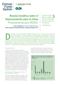 Financiamiento para REDD+ - Overseas Development Institute