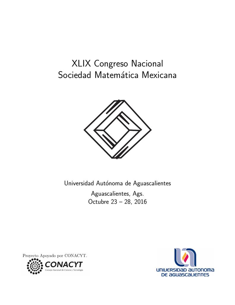 programa en extenso. - Sociedad Matemática Mexicana