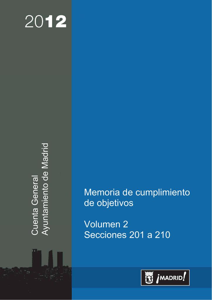 Memoria de Cumplimiento de Objetivos 2012
