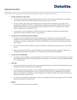 Resumen de la Notice 2014-33 El IRS publico la Notice