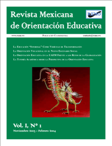 Vol. I, N° 1 ol. I, N° 1 - Revista Mexicana de Orientación Educativa