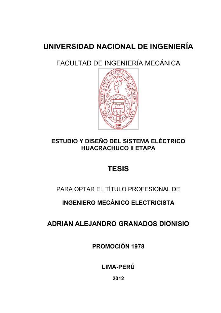 UNIVERSIDAD NACIONAL DE INGENIERÍA TESIS