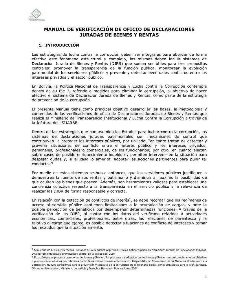 manual de verificación de oficio de declaraciones juradas de bienes