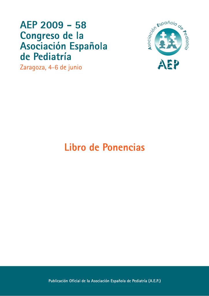 Asociación Ponencias Española Libro Pediatría De rdCxoeBW