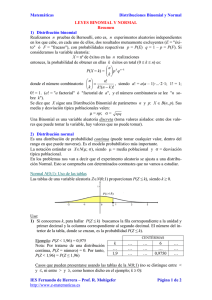 Distribuciones Binomial y Normal
