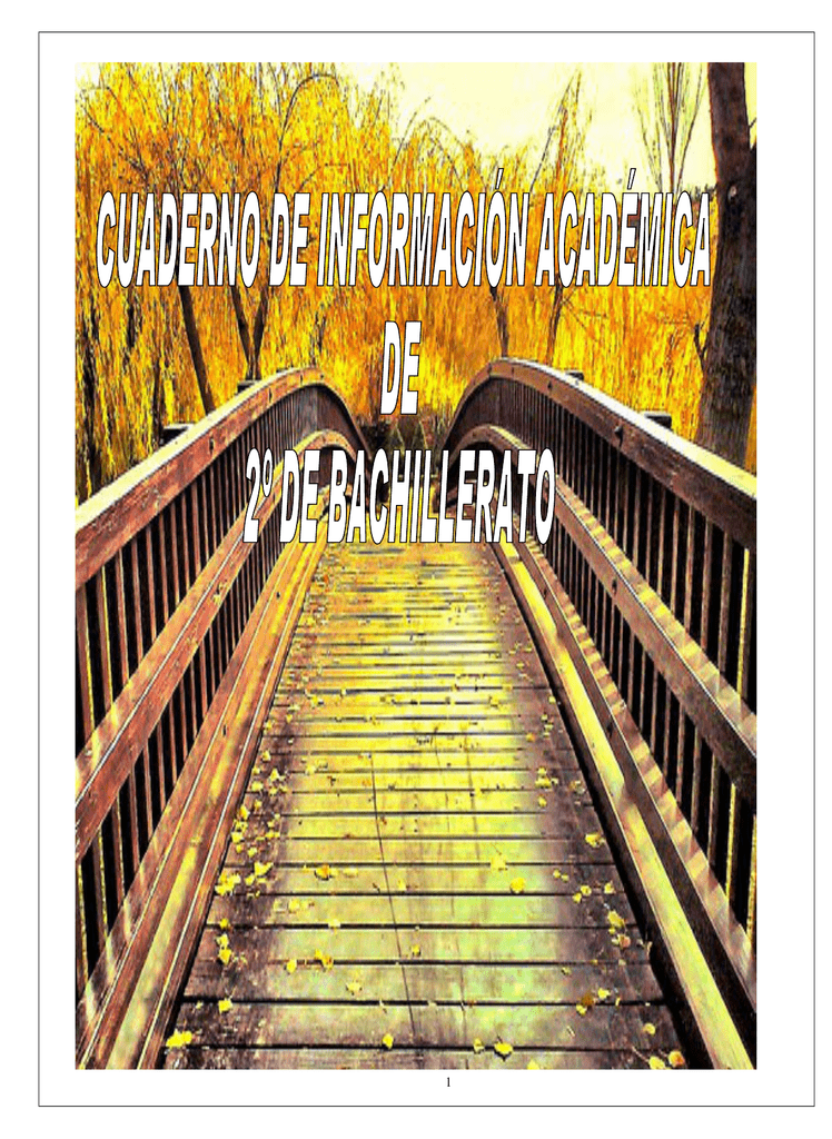 Cuaderno De 2º De Bachillerato 2016
