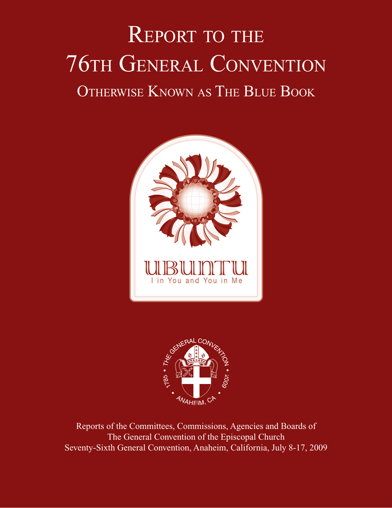report to the 76th general convention - GCO Extranet