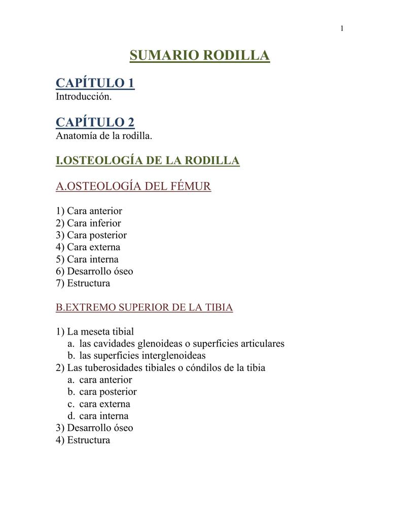 SUMARIO RODILLA - Colección de Libros