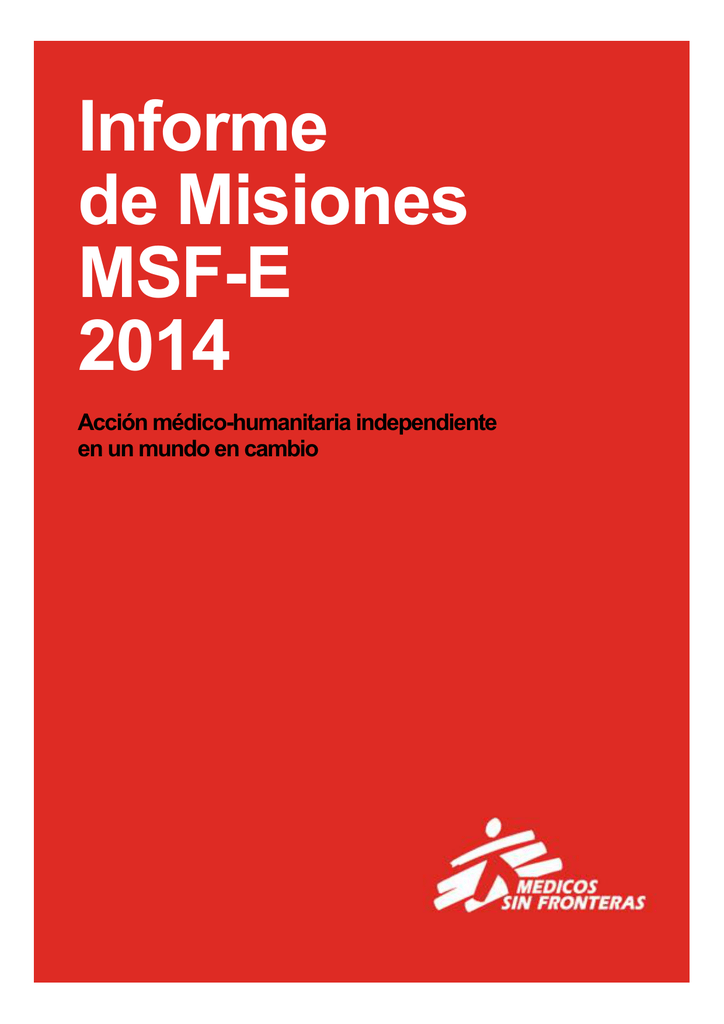 Informe De Misiones Msf E 2014