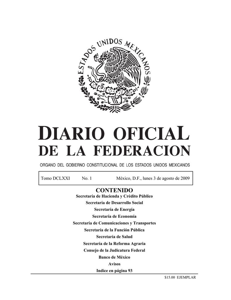 fb671608e8bc contenido - Diario Oficial de la Federación