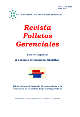 Revista Folletos Gerenciales - CETED