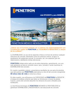 NEWSLETTER PENETRON JUNIO 2015