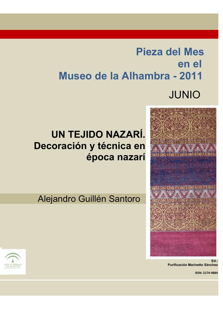Un Tejido Nazarí Patronato De La Alhambra Y Generalife