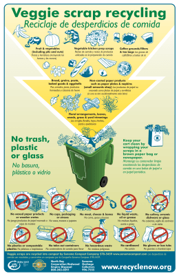 Commercial food scrap recycling poster