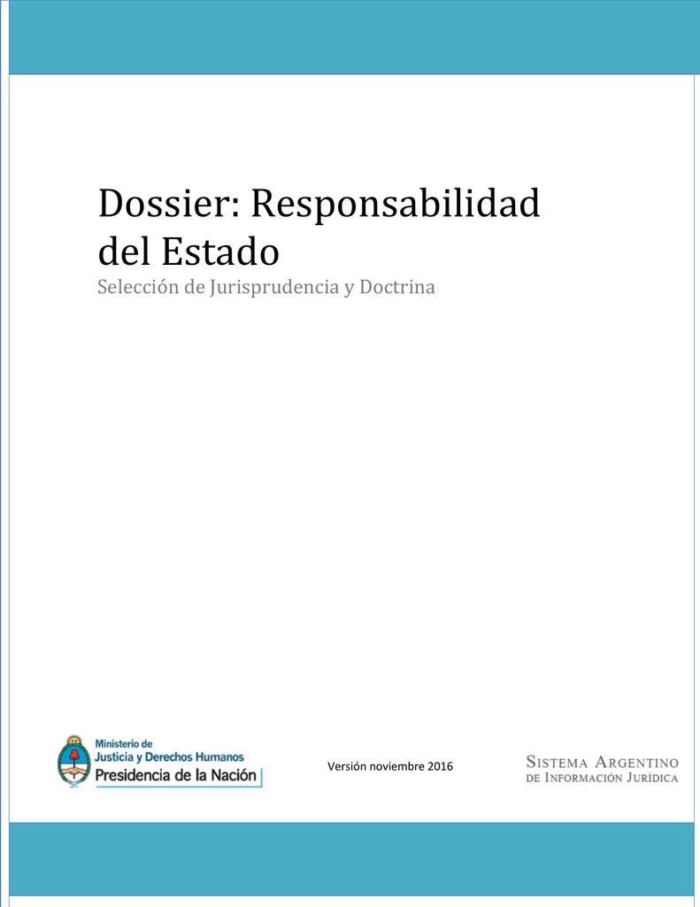 Dossier: Responsabilidad del Estado