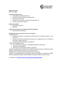 CV - Universidad de Navarra