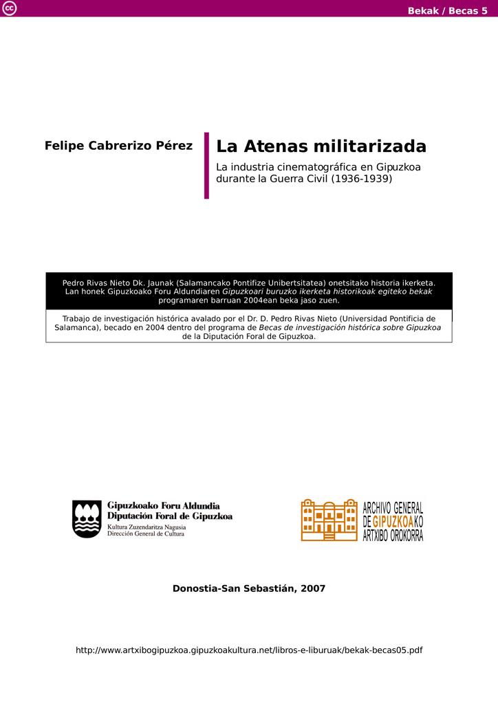 La Atenas militarizada. La industria cinematográfica en Gipuzkoa
