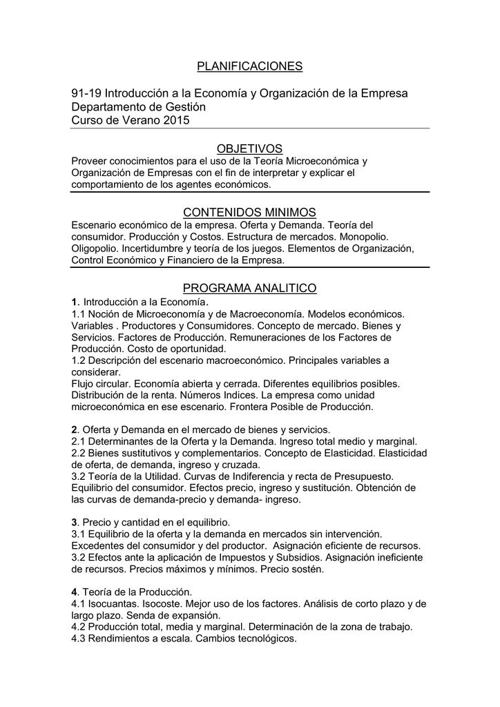 Planificaciones 91 19 Introducción A La Economía Y