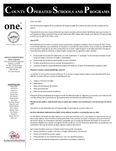 one. - San Joaquin County Office of Education