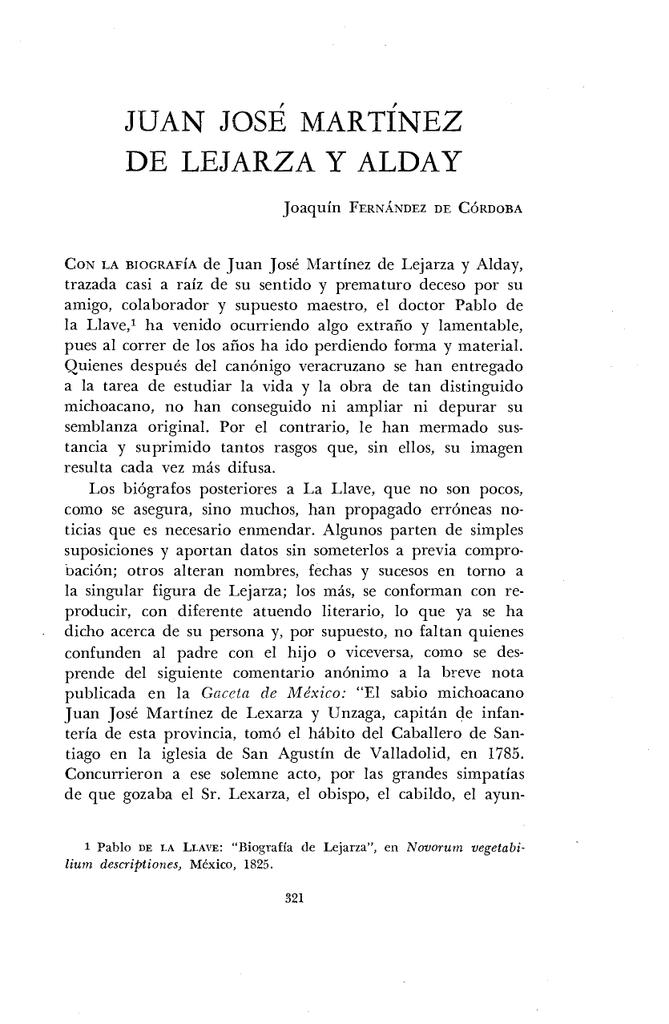 JUAN JOSÉ MARTÍNEZ DE LEJARZA Y ALDAY