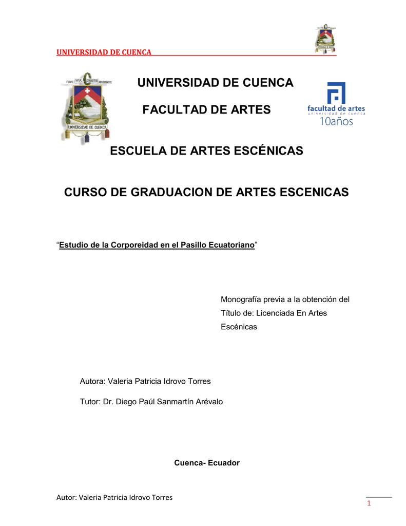 Universidad De Cuenca Facultad De Artes Escuela De Artes