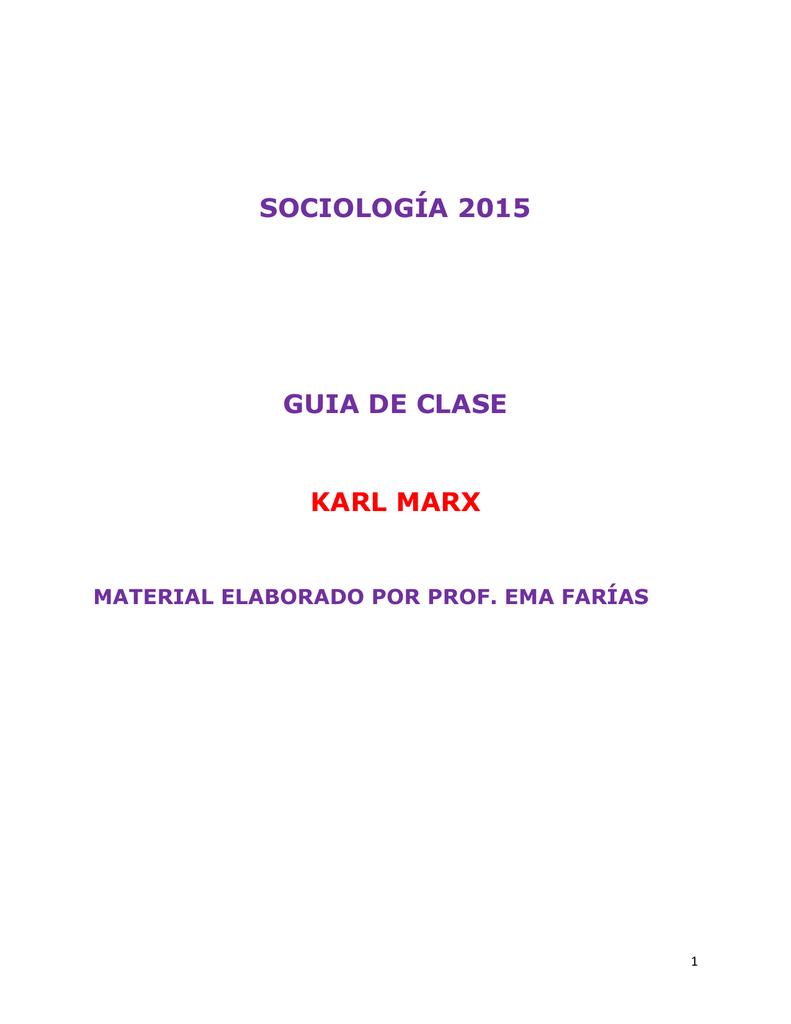 Guía De Clase Marx