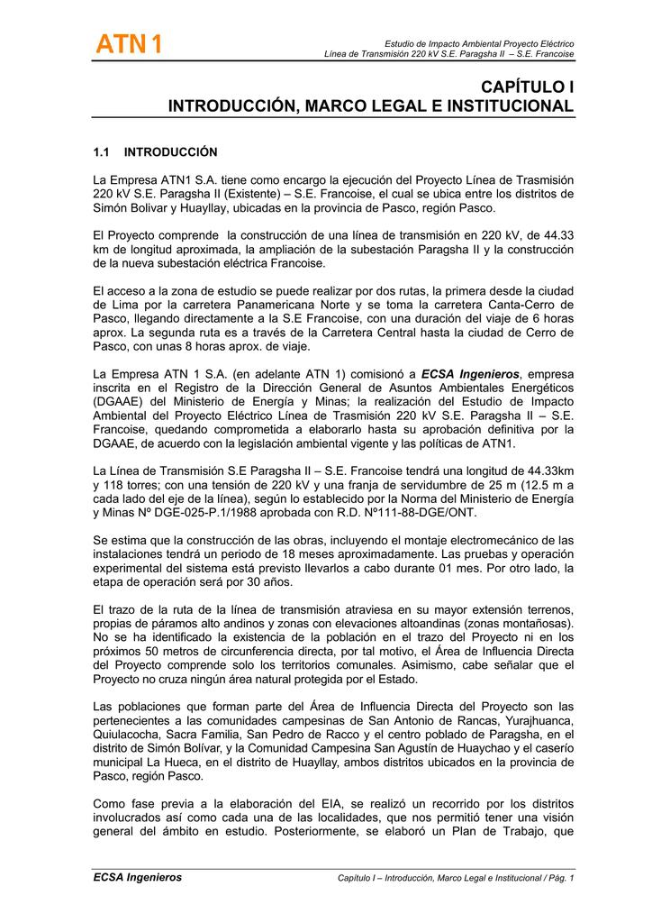 Capítulo I Introducción Y Marco Legal
