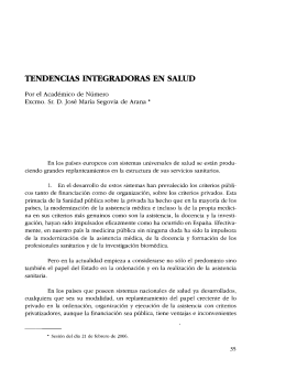 TENDENCIAS INTEGRADORAS EN SALUD