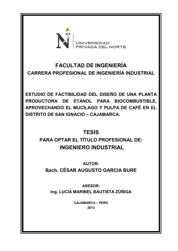 facultad de ingeniería tesis ingeniero industrial