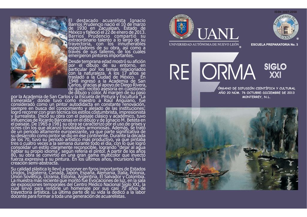 Reforma Número 76 - Universidad Autónoma de Nuevo León