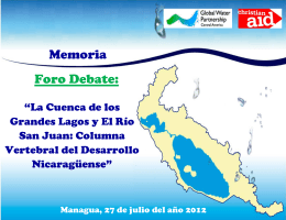 Memoria Foro Cuenca 69 - Global Water Partnership