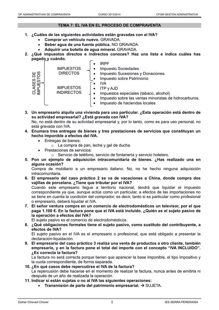 a5fdadee5f 1 TEMA 7: EL IVA EN EL PROCESO DE COMPRAVENTA 1.