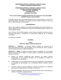 Estatuto Docente - Secretaría General
