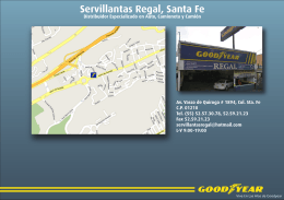 Servillantas Regal, Santa Fe