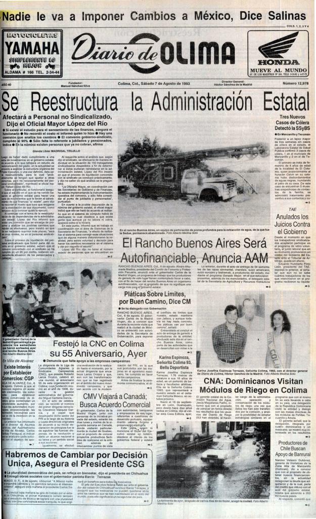 Sábado, 07 de Agosto de 1993