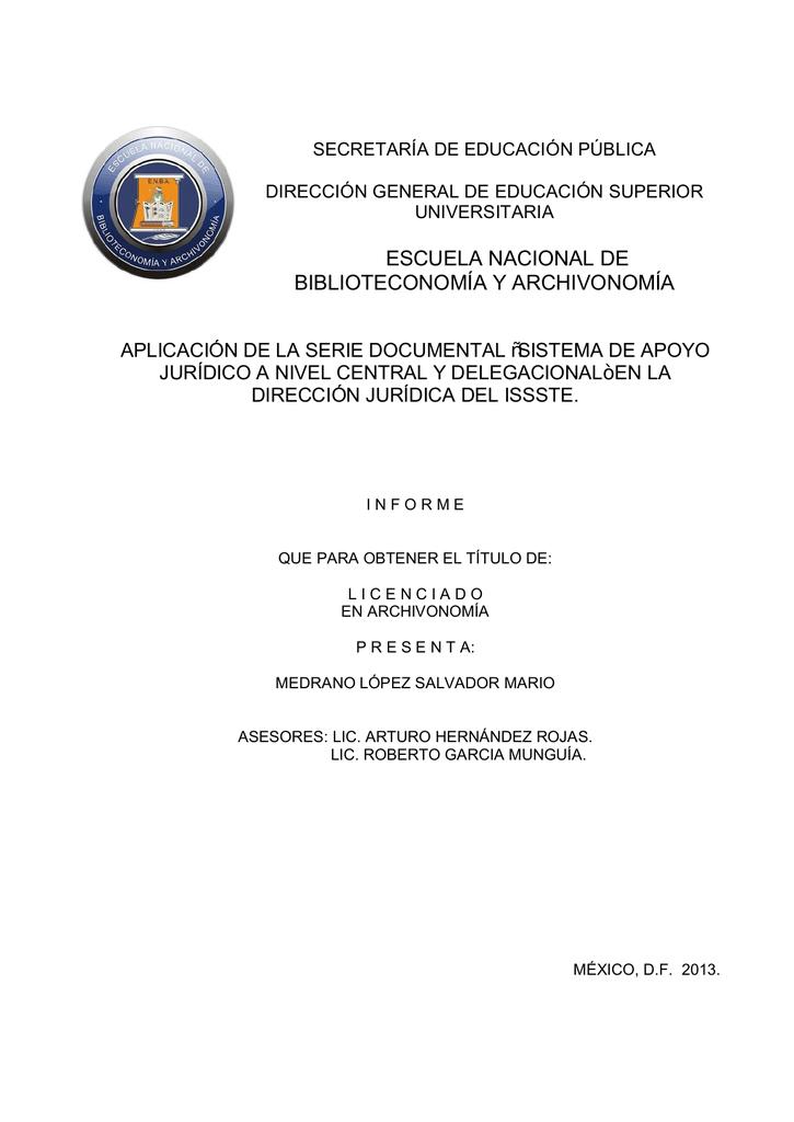 escuela nacional de biblioteconomía y archivonomía