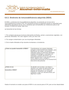 6.6.3. Síndrome de inmunodeficiencia adquirida (SIDA)