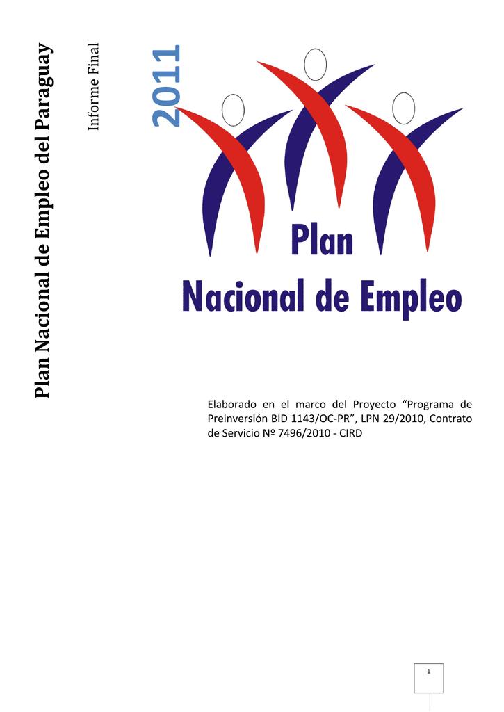 Plan Nacional de Empleo del Paraguay