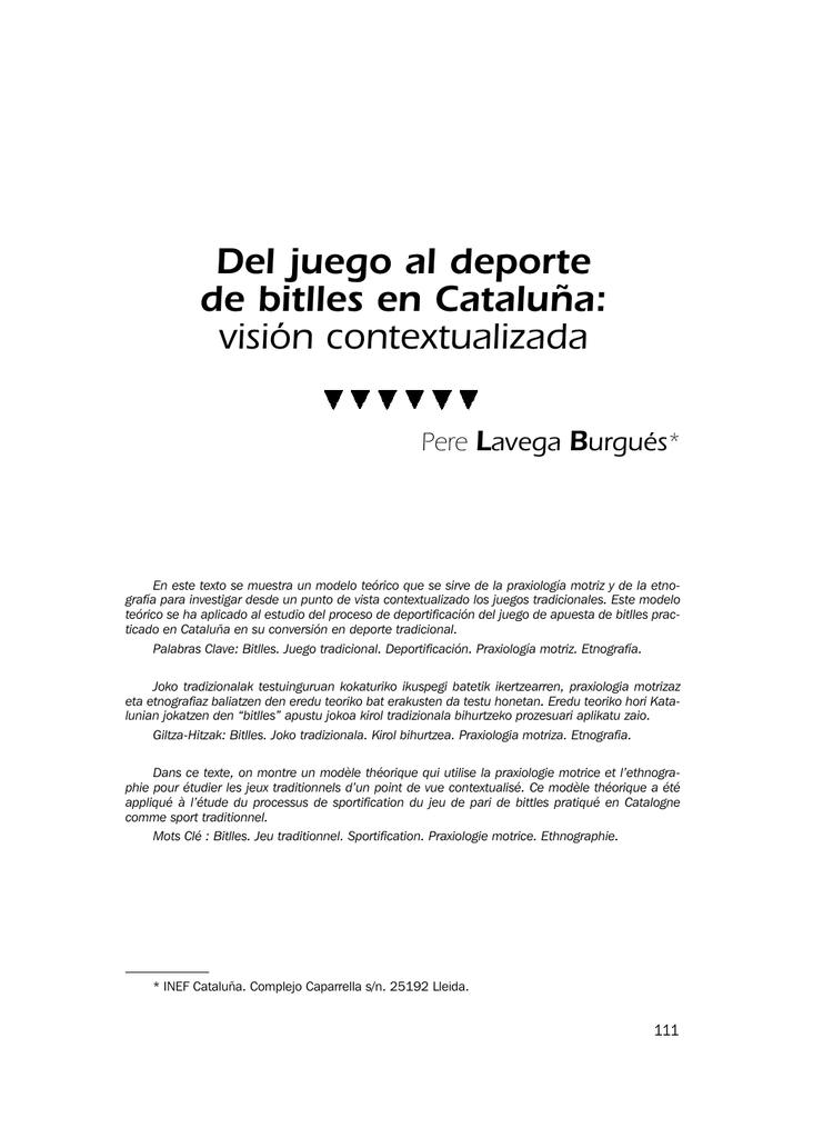 Del Juego Al Deporte De Bitlles En Cataluña Visión