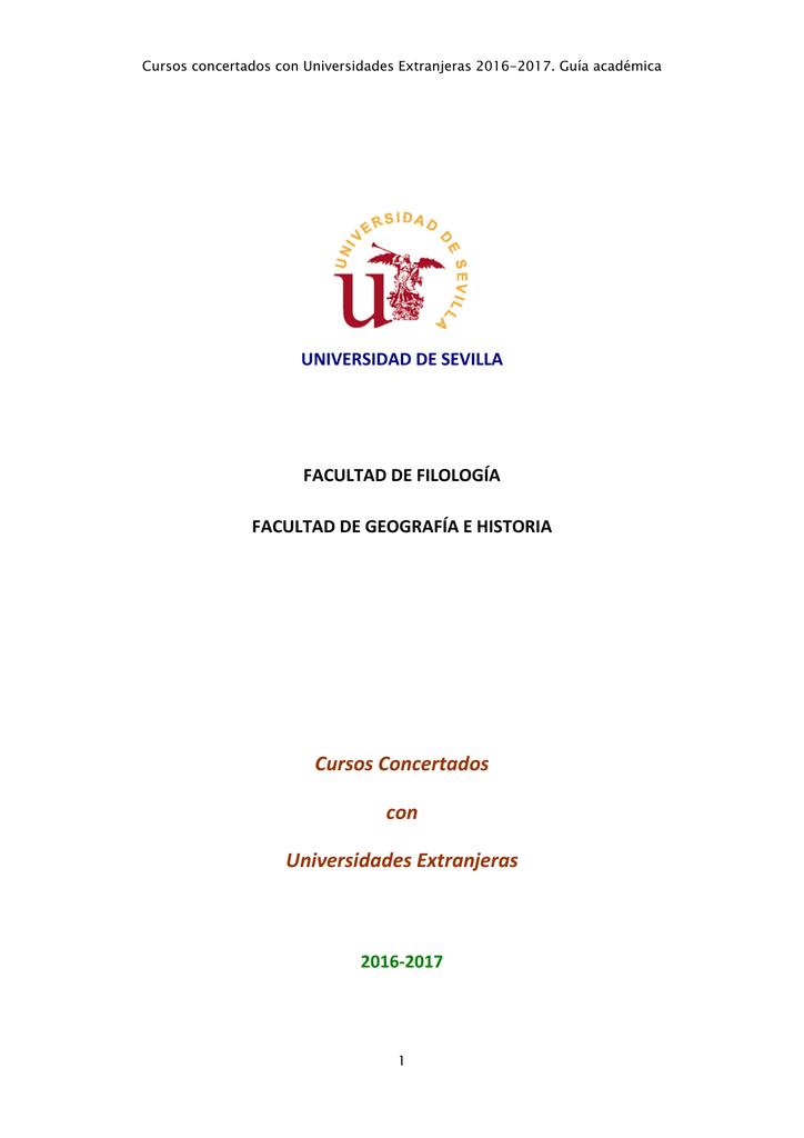 Cursos Concertados con Universidades Extranjeras