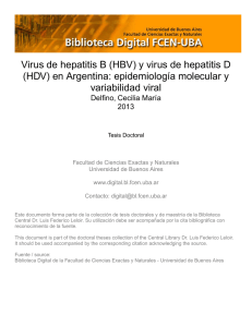 Virus de hepatitis B (HBV) y virus de hepatitis D (HDV) en A