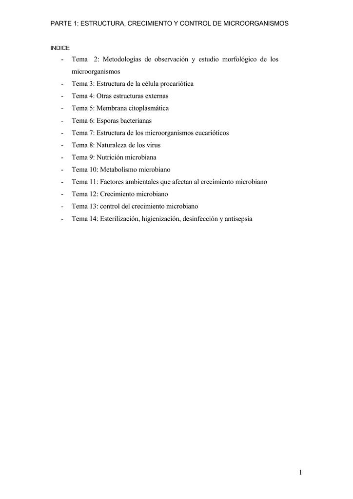 Tema 2 Metodologías De Observación Y Estudio Morfológico De Los