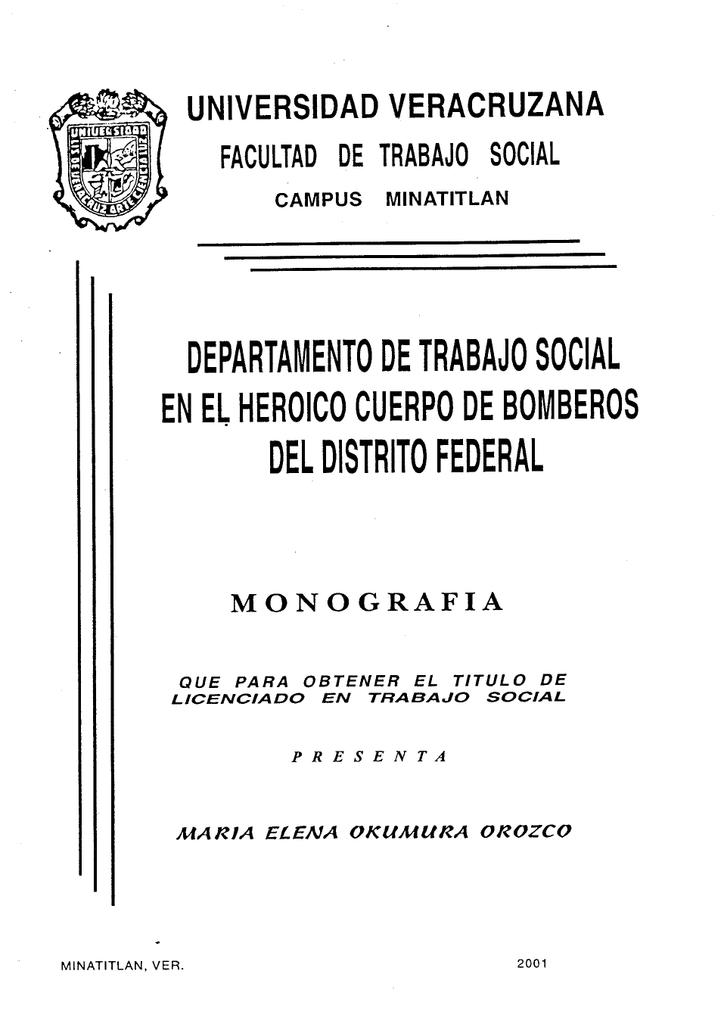 Departamento De Trabajo Social En El Heroico Cuerpo De Bomberos