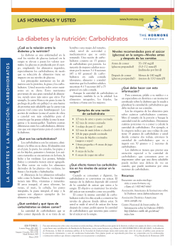 La diabetes y la nutrición: Carbohidratos