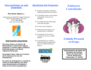 Embarazo Centralizado - Healthy Start Coalition of Pinellas