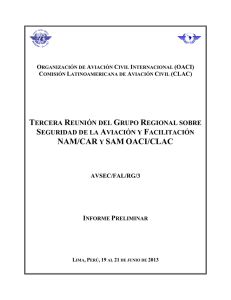 NAM/CAR Y SAM OACI/CLAC