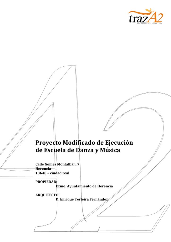 Proyecto Modificado de Ejecución de Escuela de Danza y Música