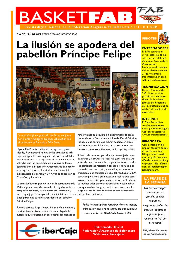 Aragonesa 1 Federación Baloncesto Revista De rCeWxBQdo