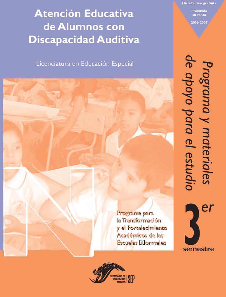 Programa y materiales de apoyo para el estudio: Atención educativa